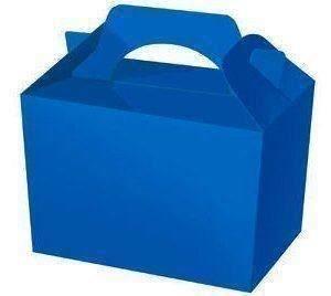 6 X Bleu Royal Uni Fête Boîtes Nourriture Jouet Surprise Déjeuner Carton Cadeau Mariage/Enfants