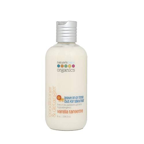 Nature's Baby Organicss Hair Conditioner & Detangler, Vanilla Tangerine, 8 Oz