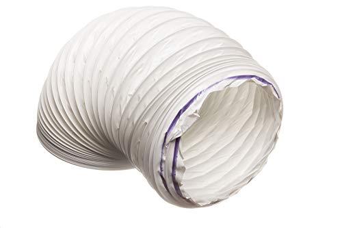 Flexibler PVC-Abluftschlauch für Dunstabzugshaube, 100 mm – 3 m / Trockner, Dunstabzugshaube, Abluftventilator, Klimaanlage.