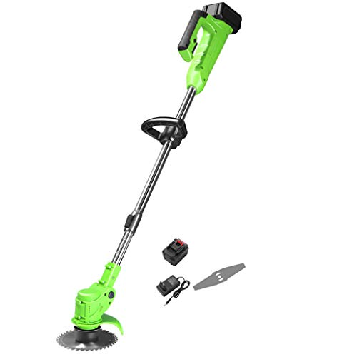 Great Deal! QINXUESHOP Cordless Brush Cutter and Grass Trimmer, Lithium Ion Battery Powered, Includi...