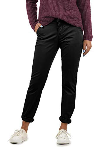 BlendShe Chilli Damen Chino Hose Stoffhose Regular-Fit, Größe:XS, Farbe:Black Washed (20047)