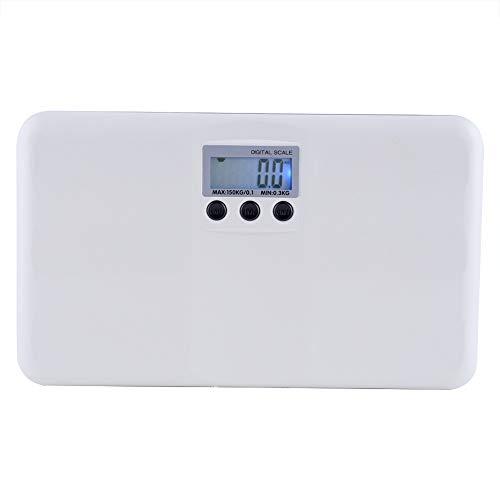 Digitale weegschaal, Draagbare Mini Multi-Functie Elektronische Aan/Tare Functie Baby Schaal LCD Gewicht Schaal Lage Batterij/Lock Lichaamsweegschaal Wit