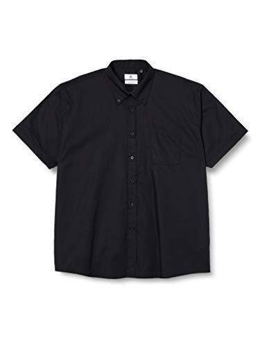 B&C Herren-Oxford-Kurzarmshirt Gr. 17.5 (Hersteller Größe : X-Large), Schwarz (Black)