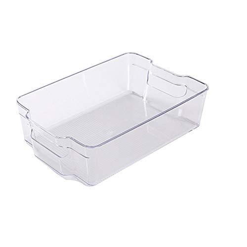 Advancethy - Cestino portaoggetti in plastica trasparente, con maniglie per cucina, controsoffitti, armadi, frigorifero, congelatore, camera da letto, bagno