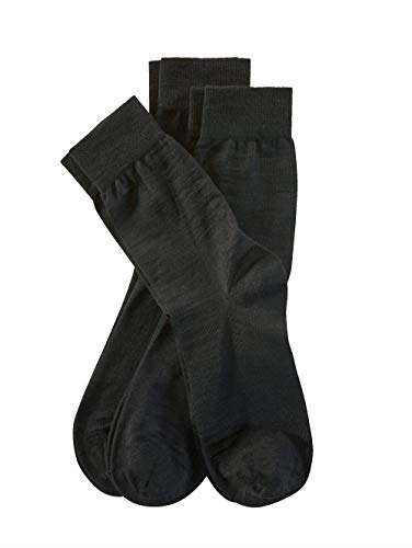 Weissbach Socken mit handgekettelter Spitze Schwarz