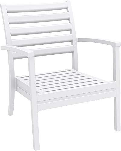 resol grupo Alma Set de 2 sillones Bajos para Exterior jardín, Blanco