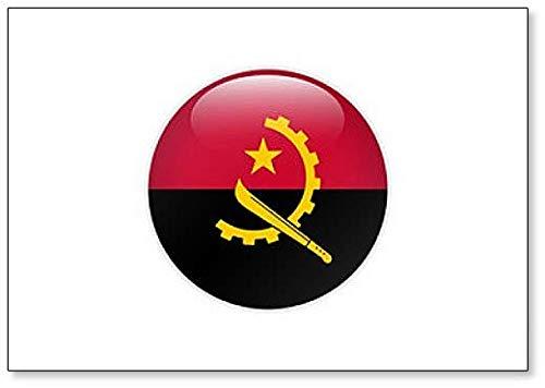 Kühlschrankmagnet, Motiv Angola Flagge auf Knopf, Illustration