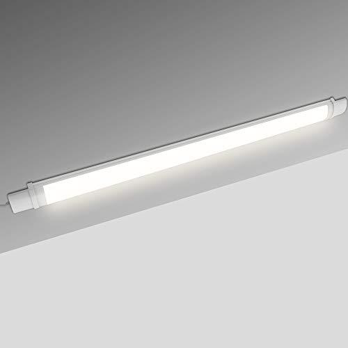 Lumare LED Unterbauleuchte Extra Flach 20W 1600lm IP65 Wassergeschützt 4000K neutralweiß, An/Aus-Schalter 130cm Zuleitung inkl. Montagezubehör Werkstattlampe Küchenleuchte Schrankleuchte Licht-Leiste