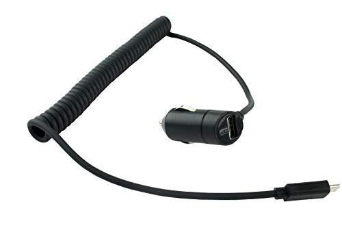 NFE² KFZ Schnellladekabel 12-24V - 3 Ampere + Extra USB Port, Spiralkabel USB-C für ZUK Z1
