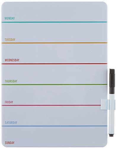 Lavagna bianca cancellabile in formato tablet di Kikkerland, Plastica, bianco, 25 x 18 x 0.7 cm