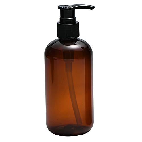 bdrsjdsb Distributeur De Savon Liquide De Bouteille De Shampoing Rechargeable Vide De Bouteilles De Presse De 250/500 ML Marron 500 ML