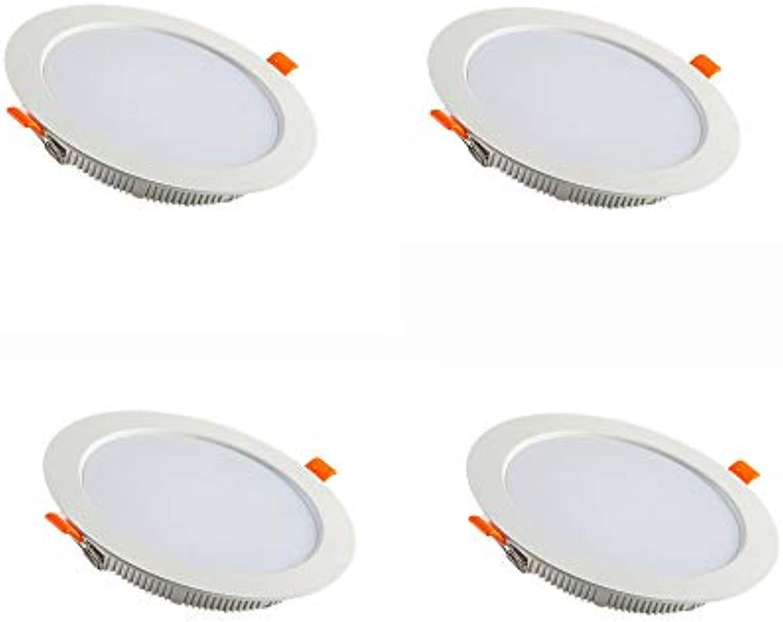 DEPAOSHJ 4 packs Hohe Wrmeableitung Aluminium Material LED Farbwiedergabeindex  75 Ultradünne Beleuchtung Downlight Wohnzimmer Decke Deckenleuchte 6000 Karat Farbtemperatur Anti-Fog Downlight 15 Watt