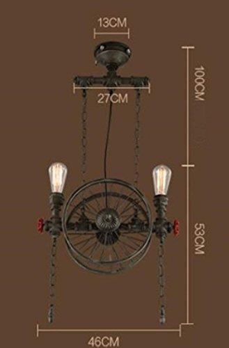 MTG Licht, Deckenanhänger, Hängende Leuchten, Loft Retro Industrielle Windwasserpfeife Personalisierte Kreative Restaurant Bar Von American Taiwan, Eisen Kronleuchter Radlager