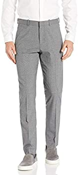 Perry Ellis Men's Portfolio Slim Fit Heathered Check Dress Pant