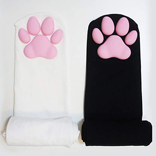 Cat Paw Pad Sock Warm Sexy Niedliches 3D Pink Katzenpfote Polyester Stoff Für Lolita Cat Cos Kniestrümpfe Neujahrsgeschenk 2 Paar 19.6 Zoll