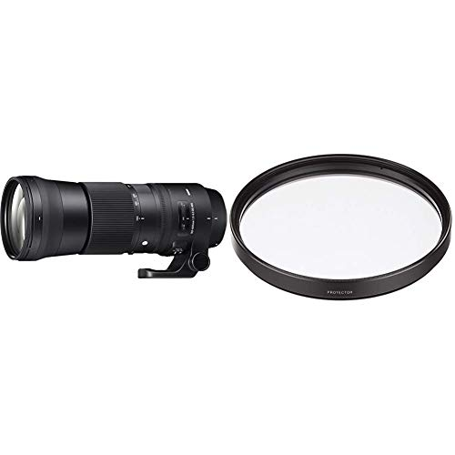 Sigma 150-600 mm F5-6.3 DG OS HSM Contemporary Canon Mount Lens & AFJ9A0 95 mm Protector