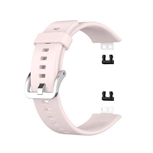 DAAGFC Correa de silicona 2020 para Huawei Watch Fit Strap con herramienta Watch Protector de pantalla Pulsera Correa de reloj inteligente (color de la correa: rosa)