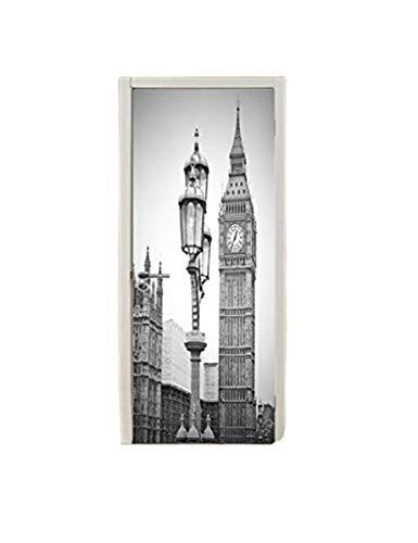 YHKQS Colonne de Porte 3D Horloge à Londres Style Européen Colonne de Porte créative Chambre Rénovation de Porte en Bois Colle de Porte autoadhésive Amovible