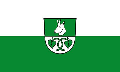 Diplomat magFlags Raum-Fahne mit modernem verchromtem Fahnenständer & Marmor-Fuß | Flagge: Kreuth 90x150cm | Höhe: 230cm