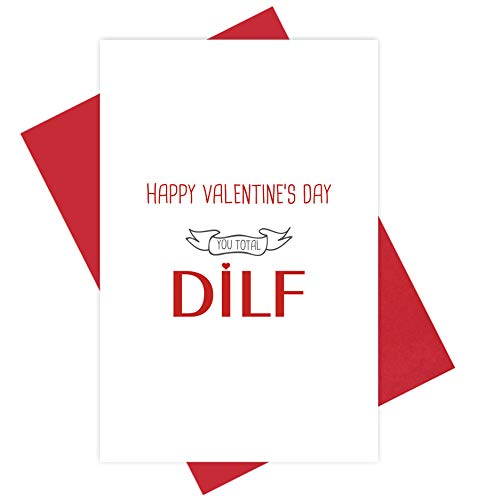 Funny Happy Valentine's Day Card, Naughty DILF Card for Husband Partner, Love Card for Boyfriend