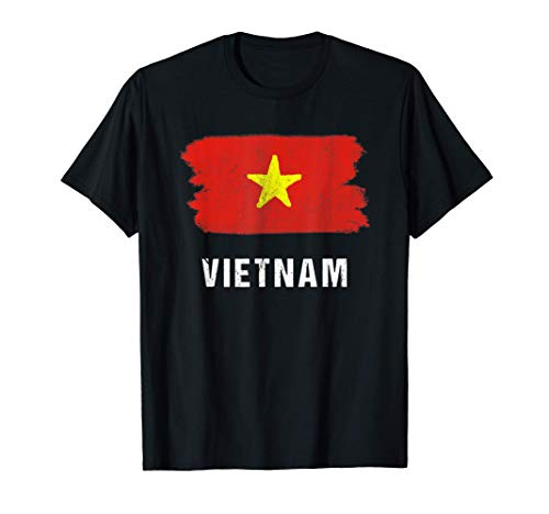 Gemalte Vietnam Fahne / Vietnamesische Flagge Fan Geschenk T-Shirt