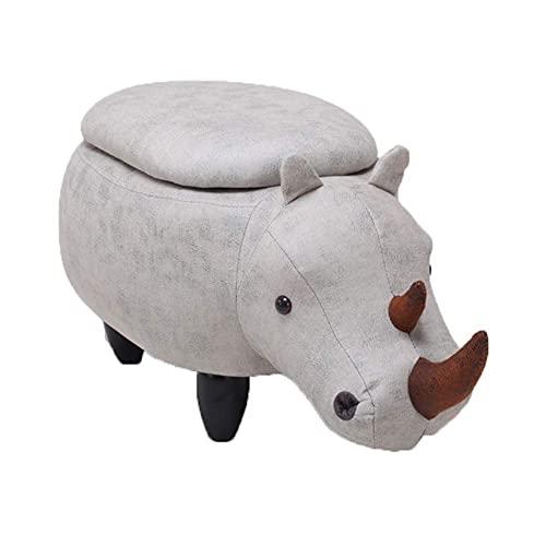JXJ Cajas de almacenamiento otomana adultos pie taburete resto Rhino reposapiés puffes multifunción taburetes silla para sala de estar dormitorio
