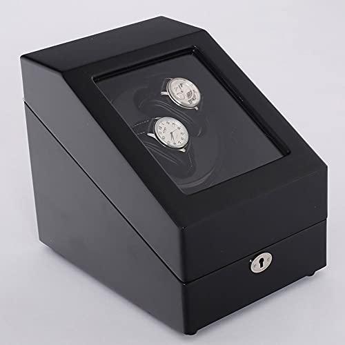 Caja enrolladora de reloj de almacenamiento de lujo Caja de presentación automática de almacenamiento de enrollador de reloj Almacenamiento Motor extremadamente silencioso 2 + 3 enrollador de reloj