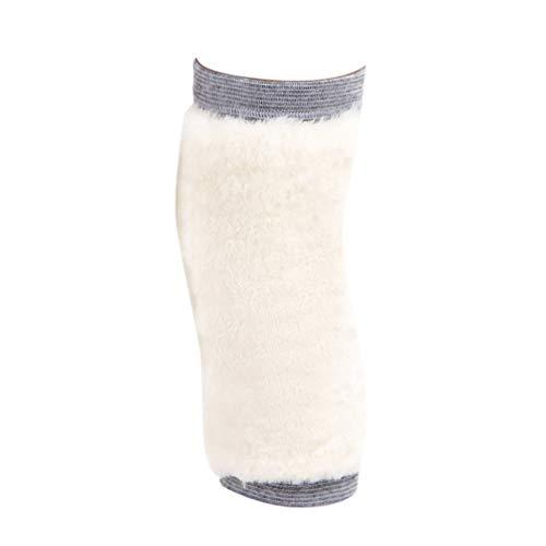 Angyu Synthetik Wolle Verdicken Knieschützer Elastische Rutschfeste Knieschoner Unisex Thermische Kniebandage Knieunterstützung mit Klettverschluss (Stil2,M)