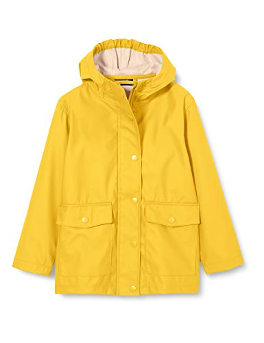 NAME IT Unisex NKNMIL RAIN JACKET1 Camp Regenmantel, Golden Rod, 122