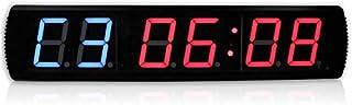 JINHAN LED الصالة الرياضية ساعة توقيت الرقمية مطبخ الموقت برمجة LED فاصل التطابق الرياضي ساعة توقيت مع ساعة توقيت التحكم ع...
