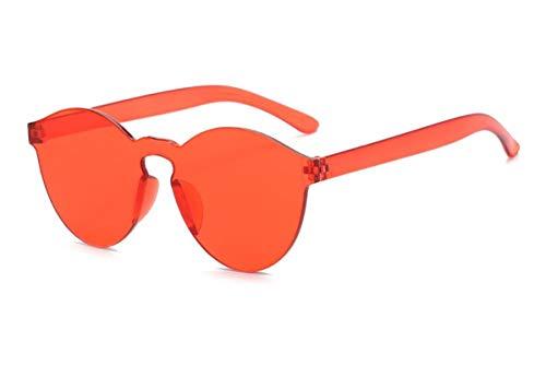 Gafas de Sol Sunglasses Nuevas Mujeres De Moda Gafas De Sol Planas Diseñador De Lujo Gafas De SolGafas Espejo De Color Caramelo Uv400 4Anti-UV