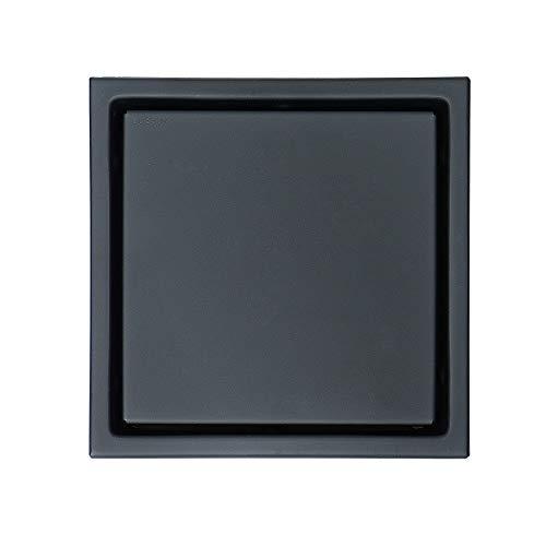 JenLn A Gran Desplazamiento Desodorante alcantarilla de desagüe de Piso En Negro Plaza Oculta WC Colador de Cazadores de Pelo (Color : Metallic, Size : 150x150x35mm)