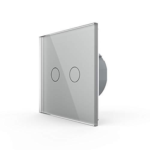 Livolo Lichtschalter Wandschalter Serienschalter VL-C702-15 Grau