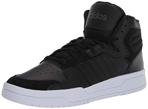 adidas mens Entrap Mid Basketball Shoe, Core Black/Core Black/Grey Six, 9.5 US