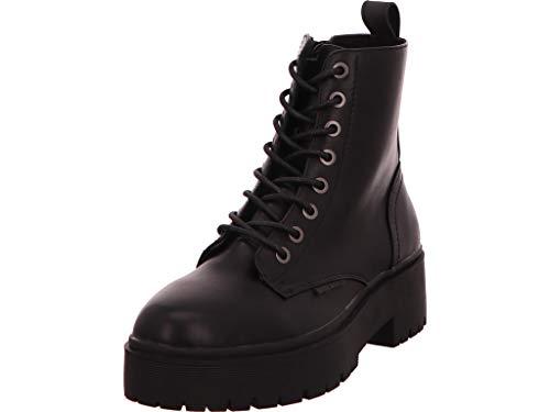 BULLBOXER Damen Stiefel, Frauen Schnürstiefel,Boots,Combat Boots,Schnürung, Boots Combat schnürung Freizeit,Schwarz,38 EU / 5 UK