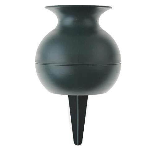matches21 Grabvase Steckvase Vase Kunststoff & Erdspieß Grabschmuck Trauerschmuck frostsicher Grab grün 1 STK - 22 cm