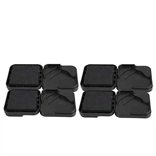 Copas con ruedas para muebles, 8 piezas/juego, antideslizante, para patas de muebles, posavasos, protector de piso para mesa, escritorio, cama, sofá, sillas (negro)