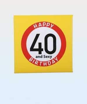 bb10 Schmuck 40.Geburtstag Scherzartikel Geburtstagsgag Spass Kondom zum 40.Geburtstag lustiges Geschenk mit Aufschrift Happy Birthday 40 and Sexy
