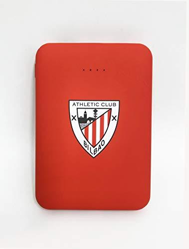 Power Bank- Bateria Externa para móvil. Producto Oficial Athletic Club de Bilbao 5.000 mAh. Entrada Tipo C y micro USB. Salida USB. Tamaño pequeño y ligero.