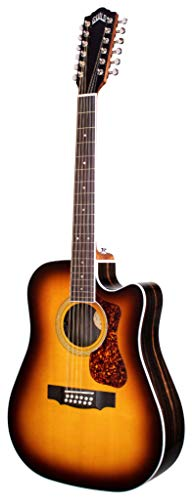 Guild Guitars D-2612CE Deluxe ATB 12-string Acoustic Guitar, Antique Burst, Archback Deluxe, Solid Top, Dreadnought, Westerly Collection
