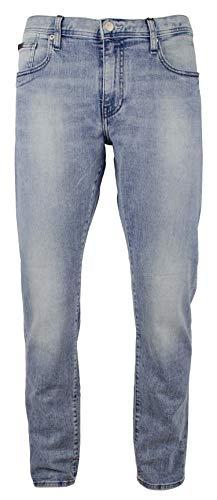 Armani Exchange Men's J13 Slim Fit 5 Pocket Jean-BLU-36S Blue Armani Five Pocket Jeans
