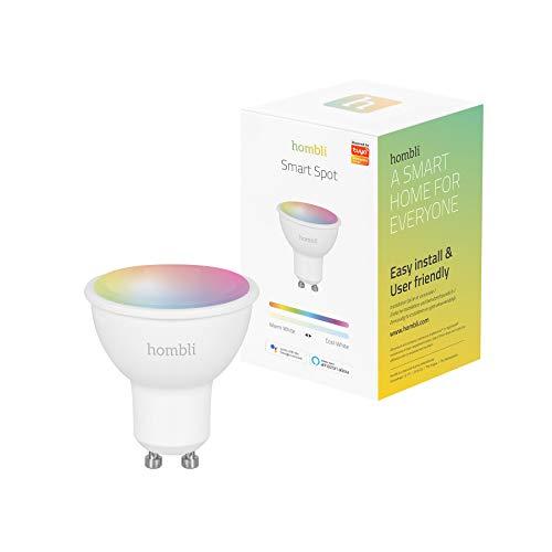 Hombli Smart-Spot RGB & CCT – 5W, GU10-Sockel, dimmbare Helligkeit, 16 Millionen Farben, kompatibel mit Amazon Alexa und Google Assistant, Fernsteuerung über kostenlose Hombli App