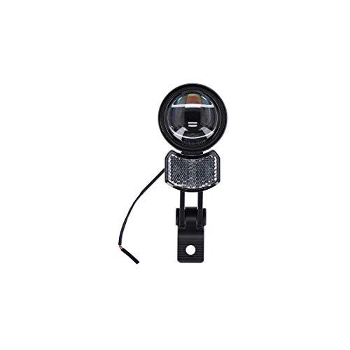 Trelock Unisex – volwassenen LED-koplamp i Airflow 100 LS 780-T/100 E-Bike, 6-12V m.H.ZL990, zwart, eenheidsmaat