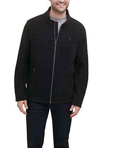 Tommy Hilfiger Men's Classic Zip Front Polar Fleece Jacket, Black, L