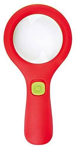 moses. 16124 Krabbelkäfer Lichtlupe | Lupe mit Licht für Kinder ab 3 Jahren | Mit 3 LEDs, Rot und Grün