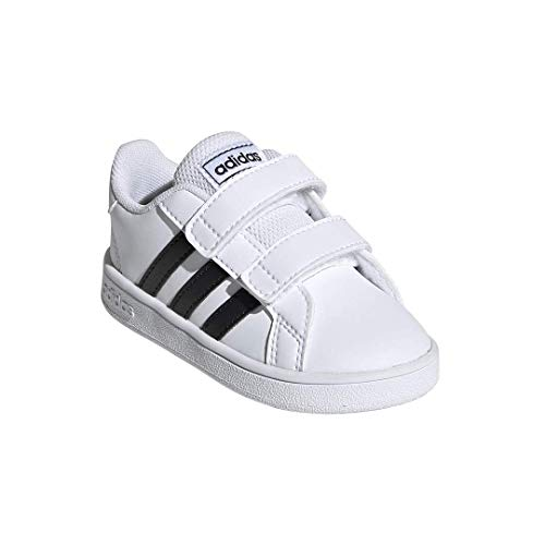 adidas Baby Grand Court Sneaker, Black/White, 6K M US Toddler