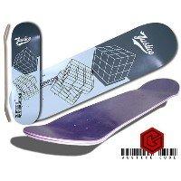 Skateboard Grafik Deck JUSTICE Deck matrix grey Size 7,5