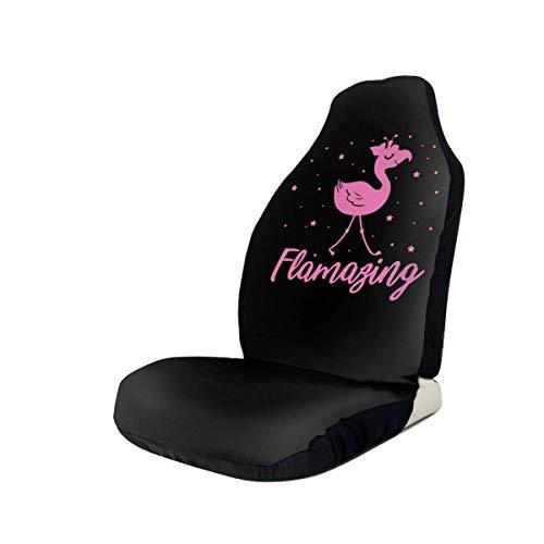 GOSMAO Fundas para asientos para fanáticos de los deportes Amazing Flamingo Awesome 1 fundas para asientos delanteros de automóvil para mujeres, que se adaptan a la mayoría de vehículos, automóviles