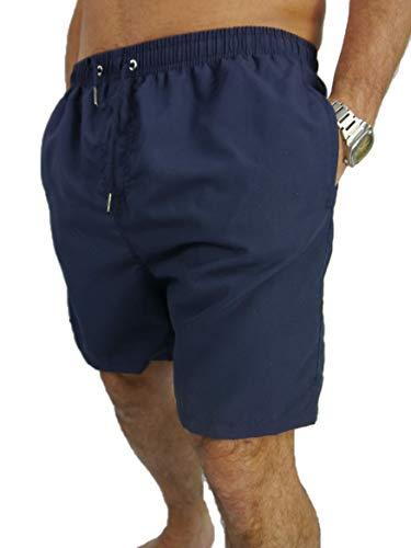 MAWASHI Herren Badehosen in Übergröße XL bis 5 XL (schwarz, Navy, blau) (MW 9003) (XXXL, Navy)