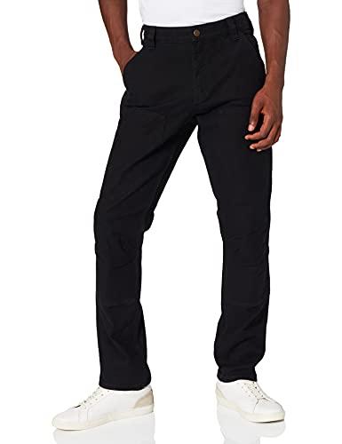 Carhartt Workwear Herren Carhartt Straight Fit Stretch Duck Double Front Work Utility Pants, BLACK, W38 L32 EU
